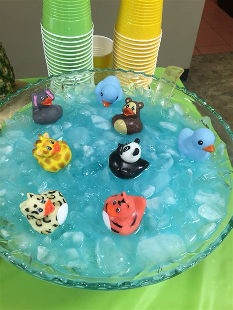 Jungle Baby Shower Blue Kool Aid Punch Bowl  Jungle Baby