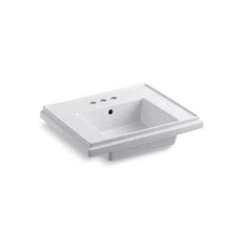 kohler tresham 24 in pedestal sink basin in white k 2757