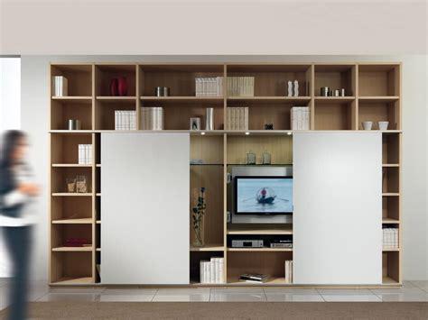libreria con porta struttura componibile con libreria e porta tv 2 porte