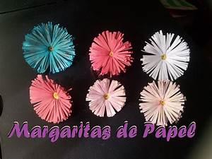 Como hacer manualidades de margaritas de papel