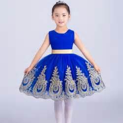 royal princess dress knee length ball gown kids girls