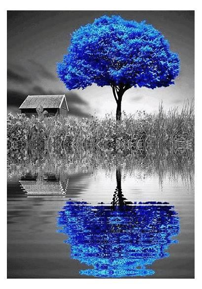Splash Nature Water Types Azul Illusion Stitch