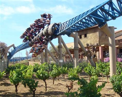 furius baco port aventura inline twist a vineyard on furius baco at portaventura in salou catalonia spain photo