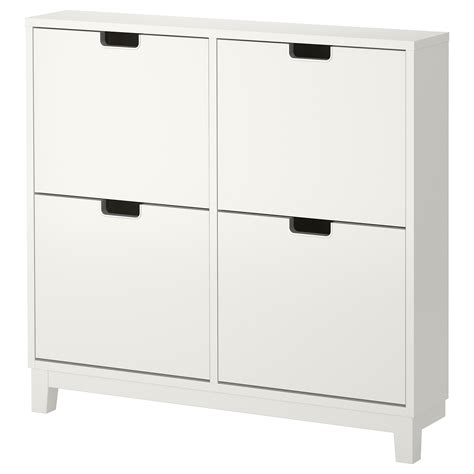 Ikea Stall Shoe Cabinet Australia by St 196 Ll Shoe Cabinet With 4 Compartments White 96x90 Cm Ikea