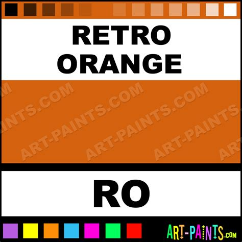 retro orange permanent cosmetic ink paints ro