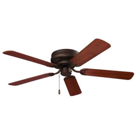 home depot hugger ceiling fans nutone hugger series 52 in oil rubbed bronze ceiling fan