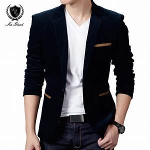 NEW Mens Fashion Brand Blazer British's Style casual Slim ...