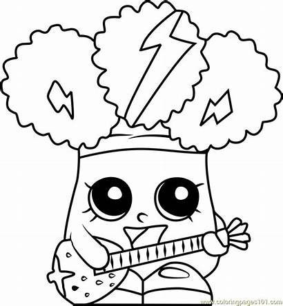Shopkins Coloring Pages Broc Rockin Printable Colouring