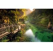 Nature Landscape River Walkway Mountain Path Forest