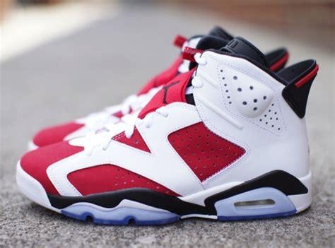 "Air Jordan 6 ""carmine""  Release Reminder Sneakernewscom"