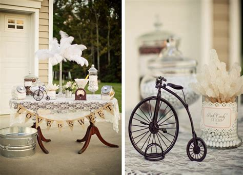 Kara's Party Ideas Vintage Backyard Wedding Table Party