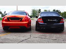 Mercedes C63 AMG vs CL500 Sound Battle V8 Revs 62L W204