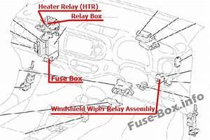 Fuse Box Diagram Toyota Yaris  Echo  Vitz  Xp130  2011