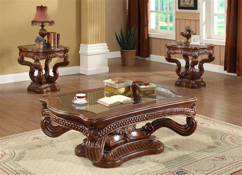 Homey Design Hd8003 3pc Royal Coffee Table Set