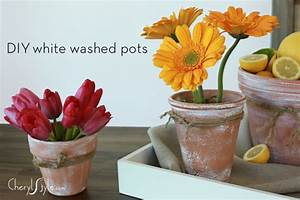 10 Awesome DIY Whitewashed Planters And Pots - Shelterness