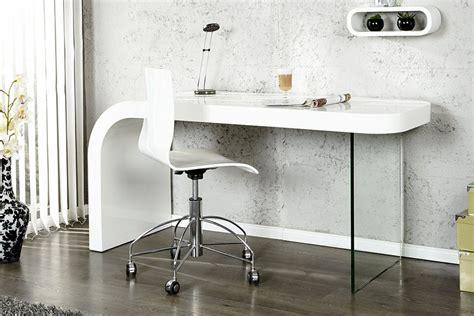 bureau designer bureau design blanc laque et verre timmen