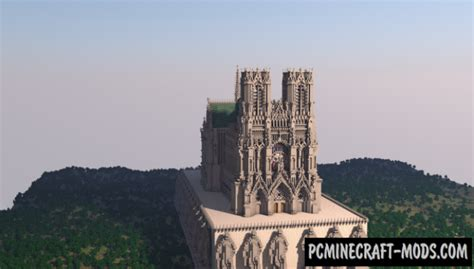 reims cathedral map  minecraft   pc java mods