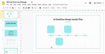 Slides Timeline Google Create Copy Line Down