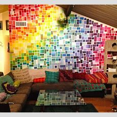 Paint Chip Wall I'm In Awe, But Don't Think I Could