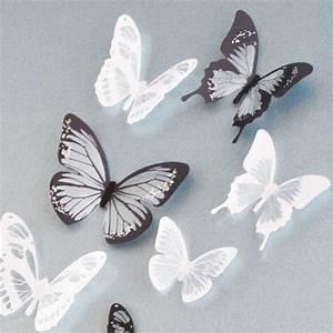Crystal pcs d butterflies diy home decor wall stickers