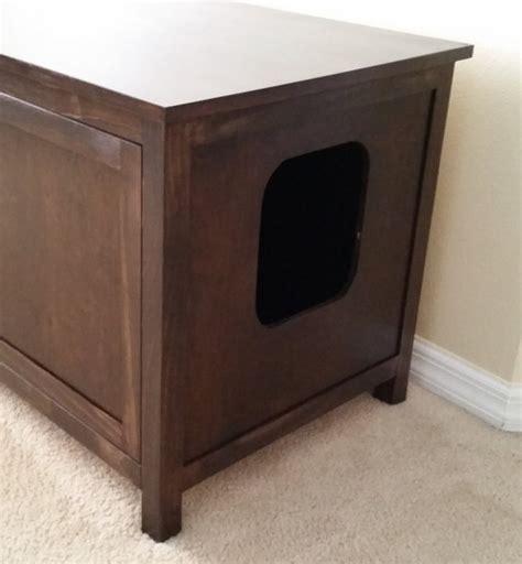 custom litter box cabinets odor free custom hand made in usa cat litter box cabinet