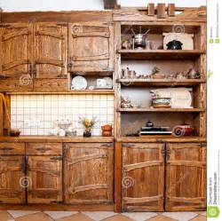Shiny Kitchen Cabinets by Furniture For Kitchen In Country Style Stock Photography