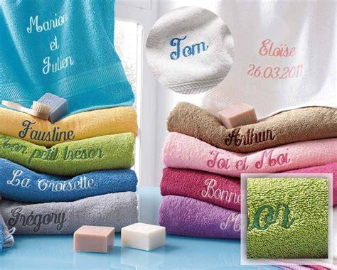 linge de bain personnalise serviette de toilette brod 233 e personnalis 233 e pr 233 nom ou petit message time s cadeaux personnalises