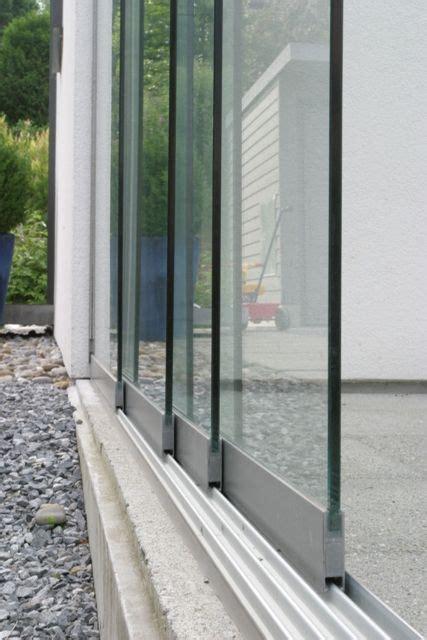 Zuhause Besser Wohnen by Die Ganzglas Schiebewand Basiert Auf Einem 228 Usserst