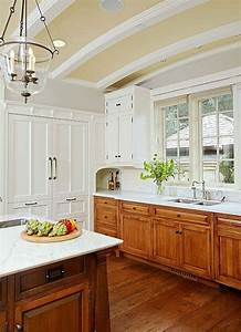 50 best images about two tone cabinets on pinterest With best brand of paint for kitchen cabinets with arts and crafts wall sconces