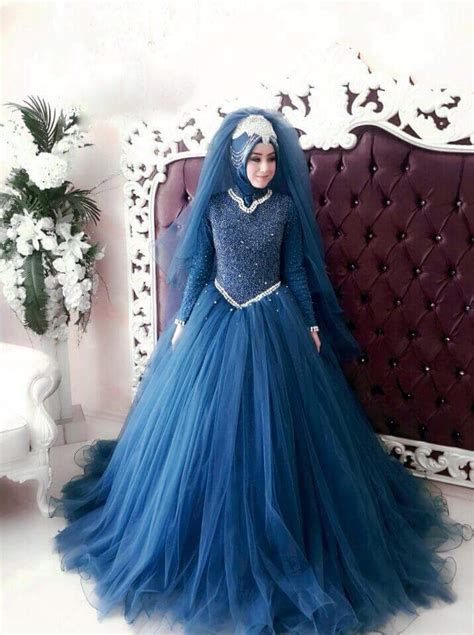 rekaan baju pengantin  arab  kembang habis