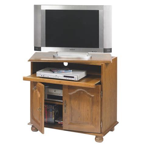 rangement pivotant cuisine meuble tv chêne rustique plateau pivotant