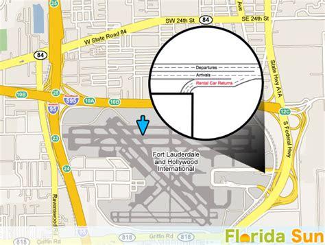 Car Rental Fort Lauderdale by Fort Lauderdale Fll Rental Car Map