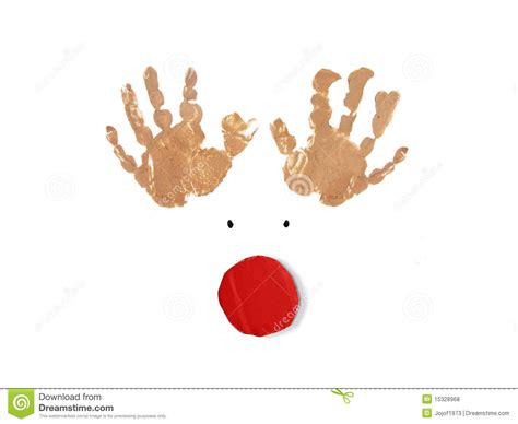red nose christmas rudolph the nose reindeer card stock illustration illustration of celebration