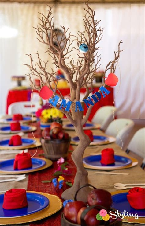 snow white centerpieces kara s party ideas rustic glam snow white birthday party