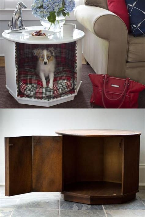 diy  table  dog bed