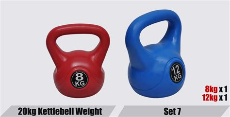 kettle kettlebell 20kg exercise bell gym weight training sets
