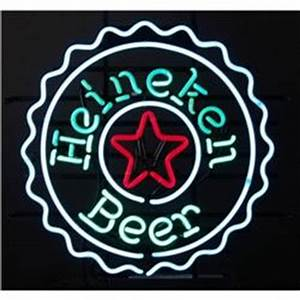 Neon Sign Heineken Beer Bottle Cap Shaped
