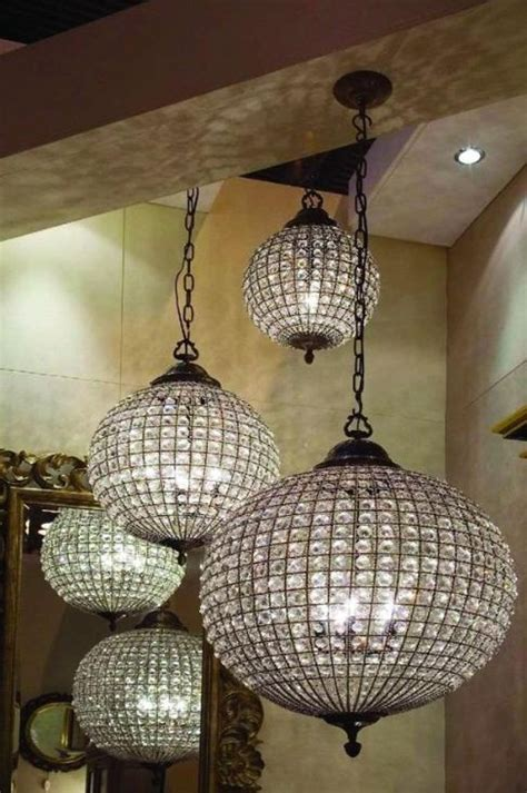ideas   crystal ball chandeliers  interior
