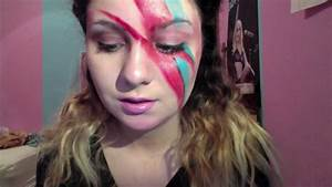 80sbowie inspired makeup