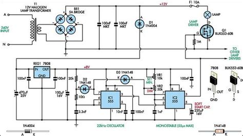 Halogen Lamp Dimmer With Soft Start Circuit Diagram