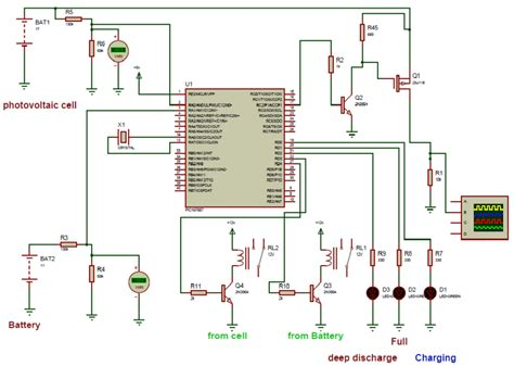Complete Schematic Diagram Solar Charge Controller