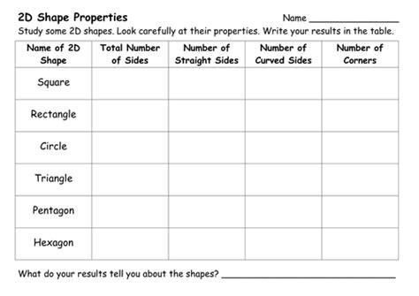 shape worksheets  ehazelden teaching