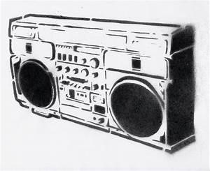 Ghetto blaster-STENCIL by crusty-punk on DeviantArt