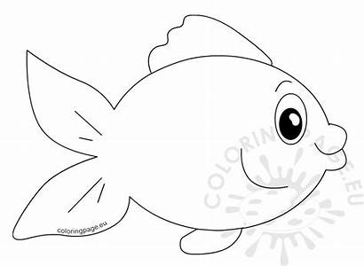 Fish Cartoon Vector Template Coloringpage Eu Coloring