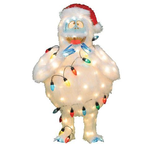 peanuts 48 quot 120 light soft tinsel abominable snowman decoratio