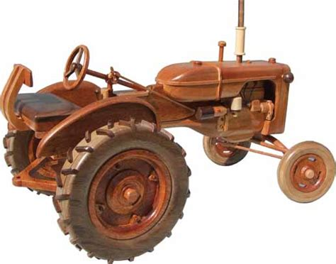 woodman collectibles wooden tractor models