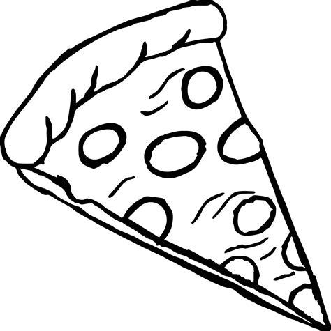 pepperoni pizza coloring page wecoloringpagecom