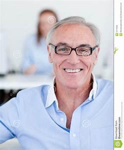 Senior Manager Wearing Glasses Stock Photo