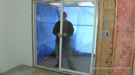 door frame how to frame a sliding glass door