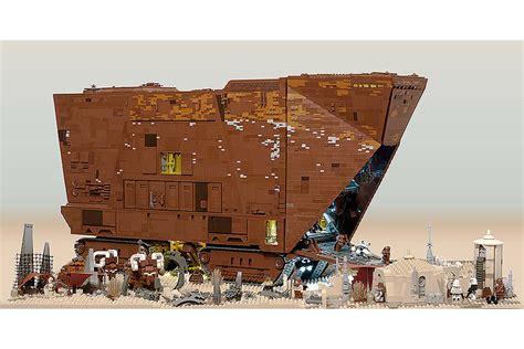 awesome 10 000 pieces custom lego wars sandcrawler